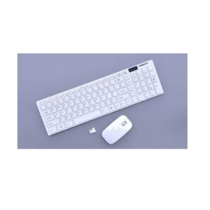 Ultra-Slim Multimedia 2.4G Wireless Keyboard And Mouse For Pc Laptop White Uk