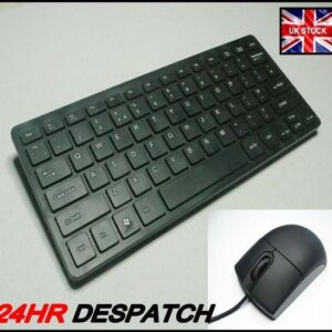 USB SLIM KEYBOARD AND MINI MOUSE FOR COMPAQ LAPTOPS