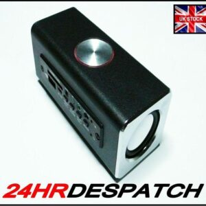 3W+3W Power Black Rechargeable Portable Speaker For Pc