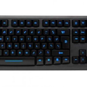Sleek Black Gaming Multimedia Usb Illuminated Keyboard For Lg Desktop-Laptop