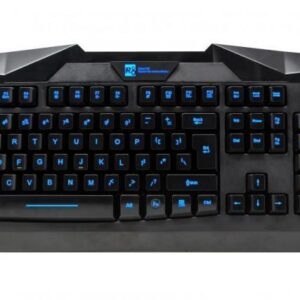 Gaming Multimedia Black Usb Wired Illuminated Keyboard For Advent Desktop-Laptop