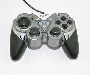Grey Usb Vibration 12 Keys Joypad Gamepad For Acer Laptop