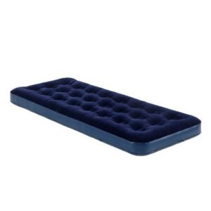 Adult Blue Single Comfort Flock Airbed Camping Mattress Inflatable Camp Bed