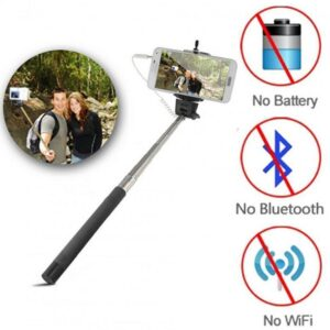 Monopod Selfie Photo Stick Telescopic Wired Remote Mobile Phone Camera Holder