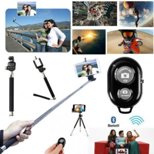 Suit Monopod Selfie Photo Stick Telescopic Bluetooth Remote Mobile Phone Camera