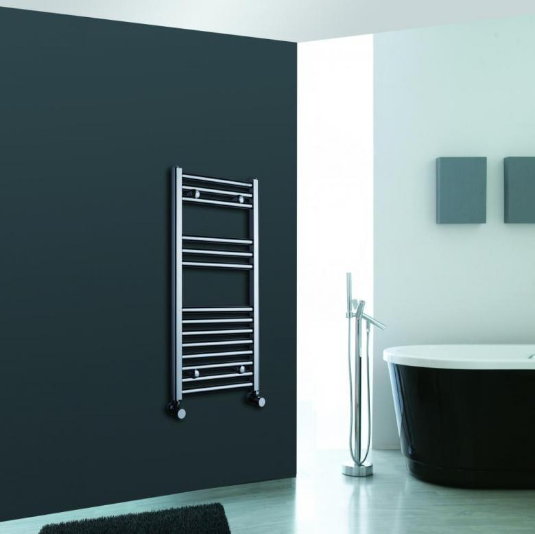 Luxury Designer Chrome Ladder Heated Towel Warmer Bathroom Radiator 800 X 500
