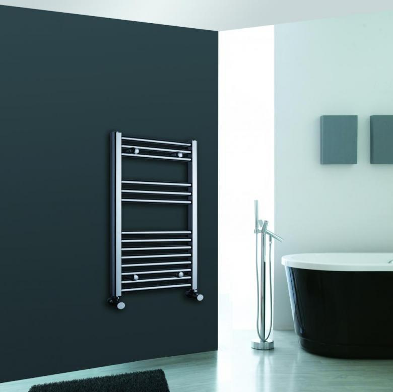 Luxury Designer Chrome Ladder Heated Towel Warmer Bathroom Radiator 800 X 600