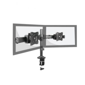Double Lcd Led Monitor Desk Mount Bracket For 15-27, With ±30° Tilt, 360