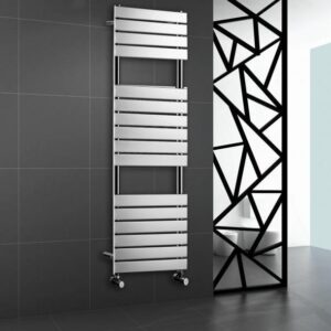 Chrome Heated Bathroom Towel Rail Rad Designer Flat Panel Radiator 1600 X 450