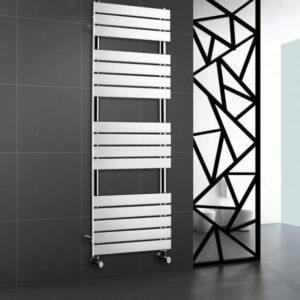 Chrome Heated Bathroom Towel Rail Rad Designer Flat Panel Radiator 1600 X 600