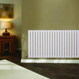 Modern Horizontal Designer Oval Column Radiator Bathroom Central Heating White X
