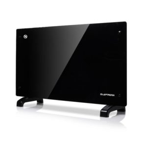 Black 1500W Glass Free Standing Wall Mounting Portable Electric Panel Heater