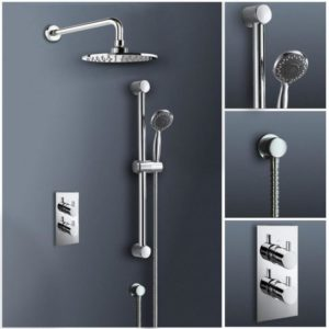 Stylish Thermostatic Bathroom Shower Full-Set
