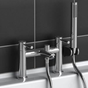 Modern Round Bath Filler Shower Mixer Bathroom Tap Chrome Solid Brass