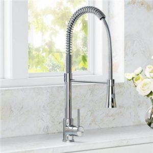 Modern Chrome Kitchen Sink Mixer Pull Out Spray Tap Swivel Spout B