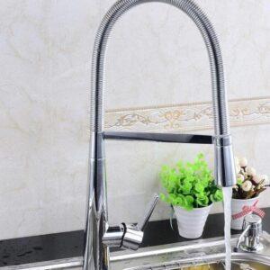 Modern Chrome Kitchen Sink Mixer Pull Out Spray Tap Swivel Spout X
