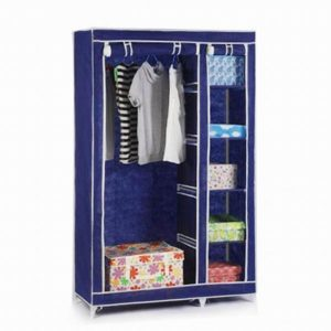 Double canvas wardrobe – perfect for extra storage or student room Blue