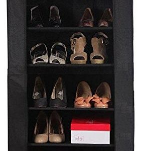 6 TIER LAYER SHELF SHOE RACK ORGANIZER STAND CUPBOARD EASY ASSEMBLE BLACK