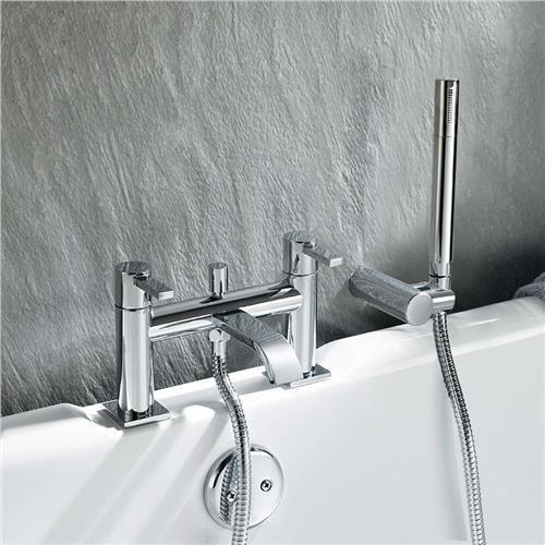 BATH FILLER SHOWER MIXER BATHROOM TAP INCLUDES SHOWER-HEAD - Laptronix