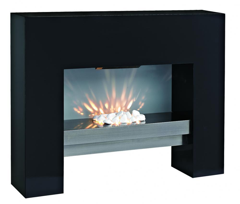 Free Standing Mdf Electric Fireplace Fire Heater Black