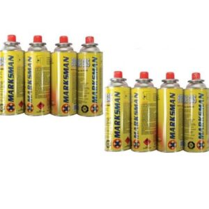 8 PACK BUTANE GAS BOTTLES FOR HEATER BBQ CAMPING