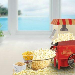 FUSION FAT-FREE HOT AIR CARNIVAL POPCORN MAKER POPPER MACHINE RETRO 30's STYLE