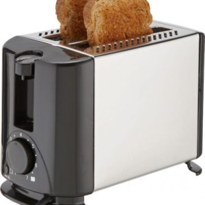 LAPTRONIX 2- SLICE ELECTRIC TOASTER IN STAINLESS STEEL 700W SIDE CRUMB TRAY