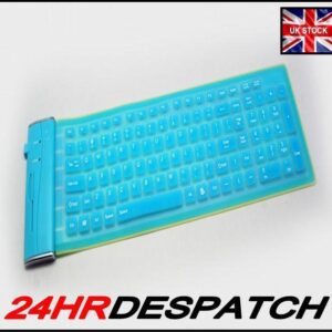 Turquoise Usb 180 Gram Flexible Silicone Keyboard Advent Laptop