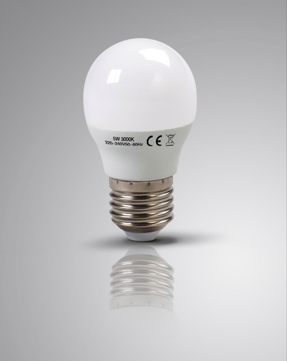 4 X LAPTRONIX LED GOLF BULBS G45 5W 3000K E27 ROUND CHANDELIER LIGHT 60W EQ 4 PK