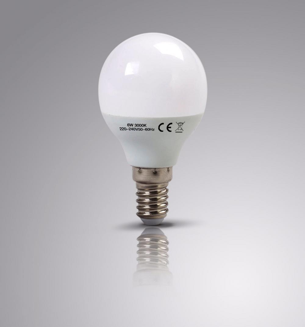 4 X LAPTRONIX LED GOLF BULBS G45 6W 3000K E14 ROUND CHANDELIER LIGHT 70W EQ 4 PK