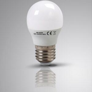 4 X LAPTRONIX LED GOLF BULBS G45 6W 6500K E27 ROUND CHANDELIER LIGHT 70W EQ 4 PK