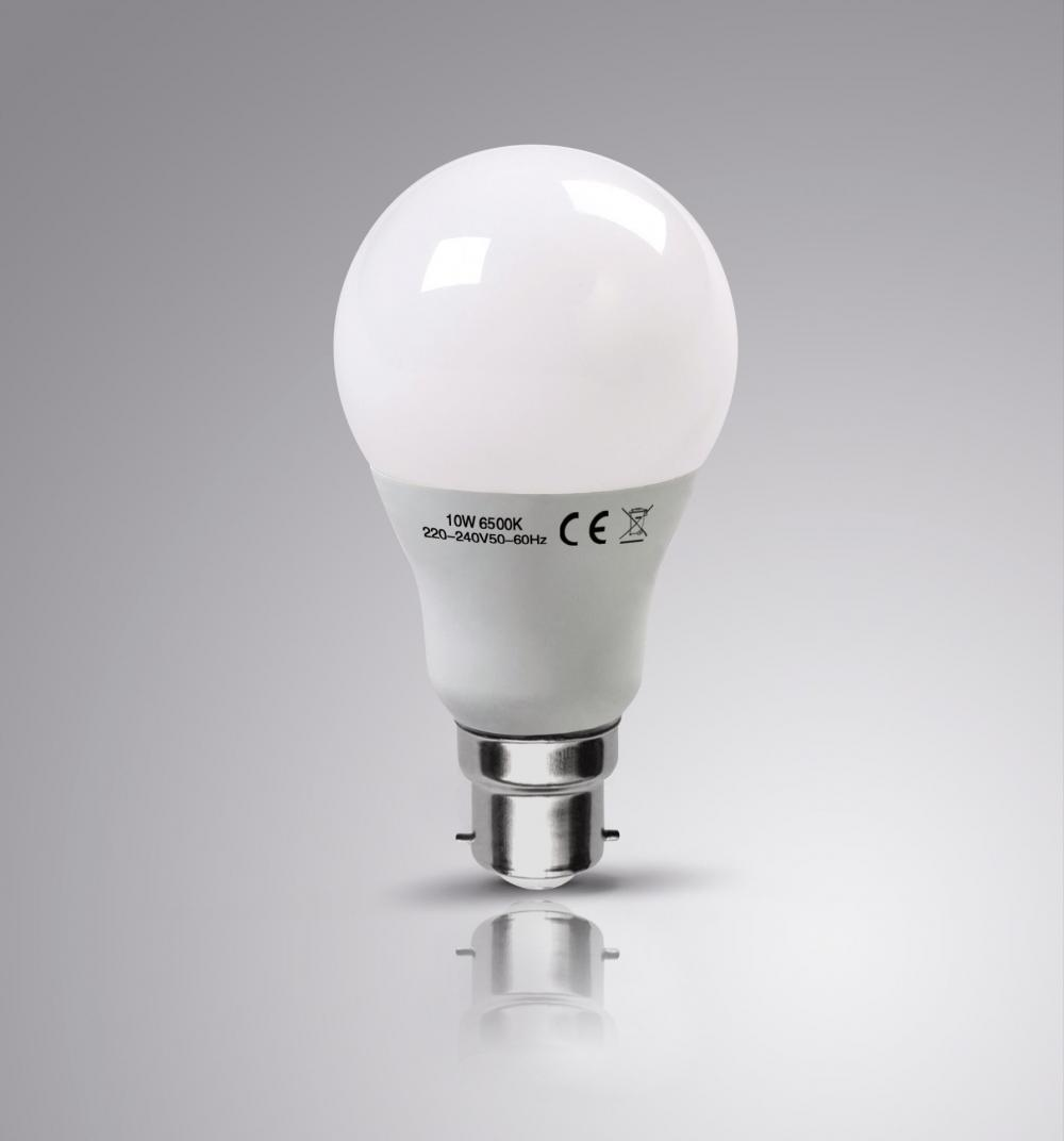 '4 X LAPTRONIX 10W GLS LED A60 LIGHT BULBS B22 DAY WHITE 6500K LAMP 100W EQ 4PK'