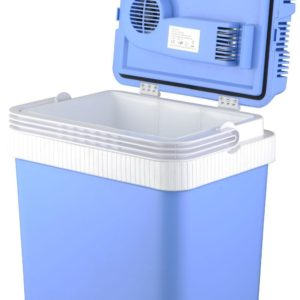 '24L PORTABLE COOL BOX ELECTRIC COOLER CAR VAN ICE FRIDGE WITH 12V & 240V ADAPTER'