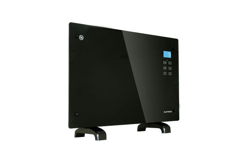 1500W Black Gl Free Standing Wall Mounted Portable Electric Panel Heater on