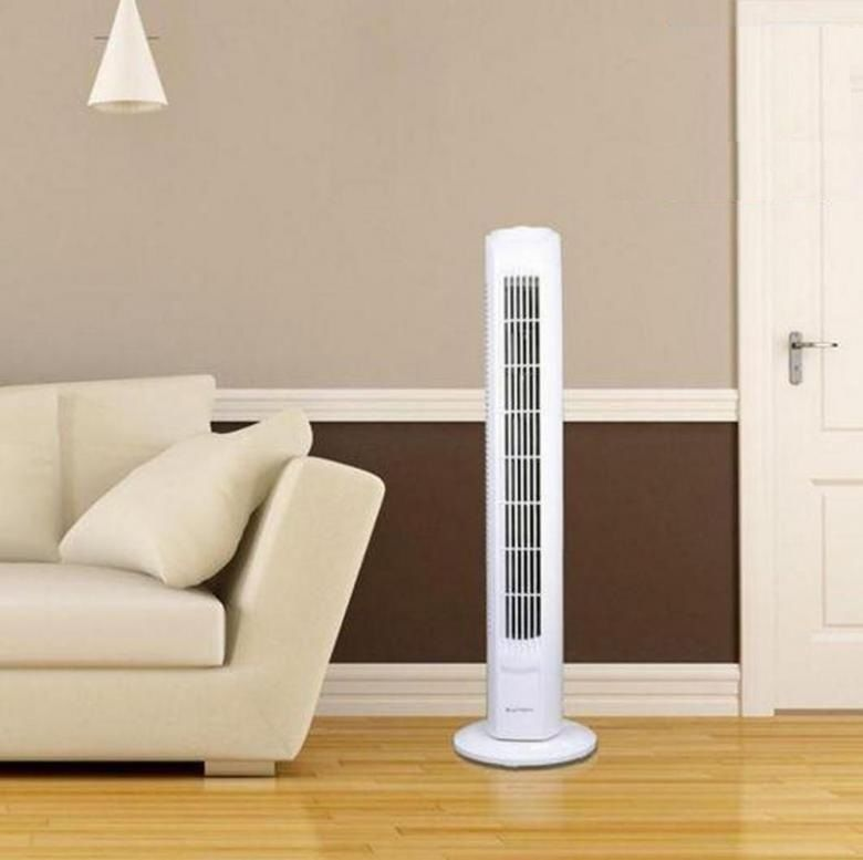 Oscillatiing Slim-Line Tower Fan with 3 Speeds and Timer - Low Noise
