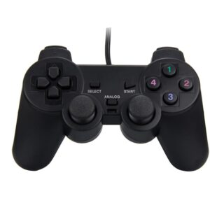 GP2 – USB 2.0 Wired Game Controller Gamepad Joypad for Laptop PC Computer Black