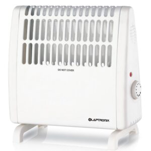 Laptronix 450W Electric Convector Heater Portable Thermostat Wall Mounted White