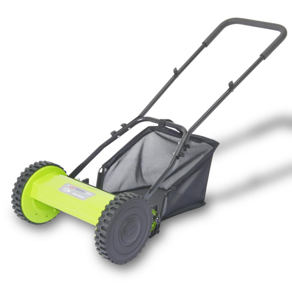 Laptronix Manual Lawnmower Grass Cutter Hand Cylinder Mower Hand Push 30cm  Width - Laptronix
