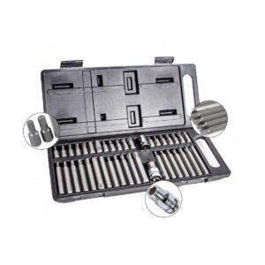 Tooltronix Power Screwdriver Bits set 1/2″ 3/8″ Drive HEX SPLINE TORX 40pcs