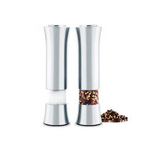 Laptronix 2 x Manual Salt & Pepper Mills Turn Grind Operation, Grinder Pots